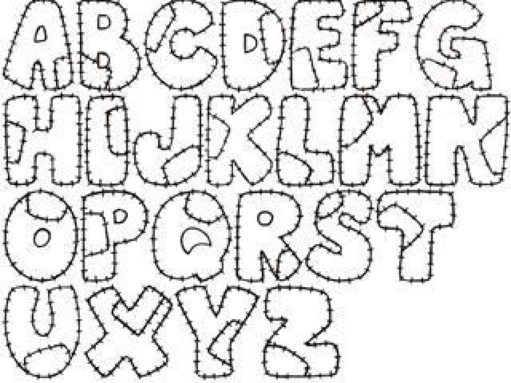 Letras Goticas Para Imprimir: Dibujo De Color Para Imprimir : Figuras Y Formas