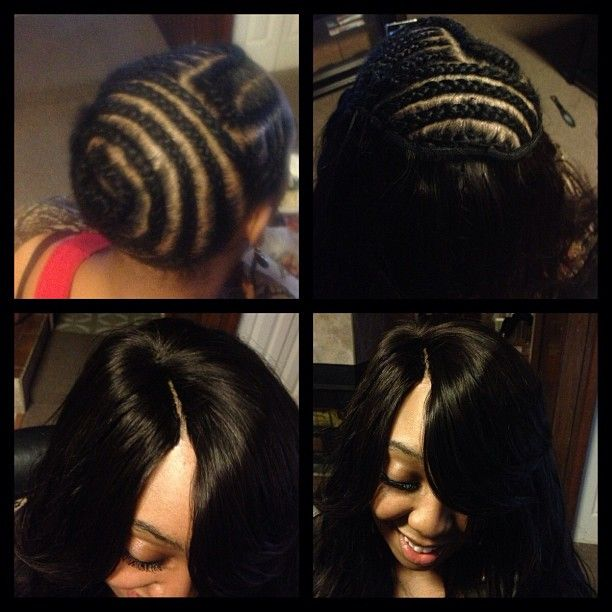 Sew In I Did With An Invisible Part Hair Pinterest Weave