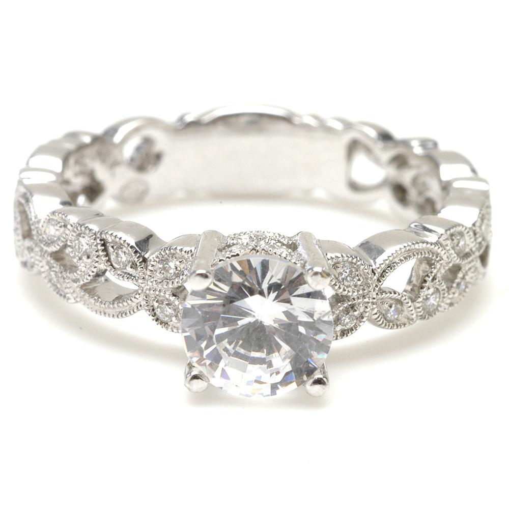 Vine Detail Ring Ring Finger Engagement Rings
