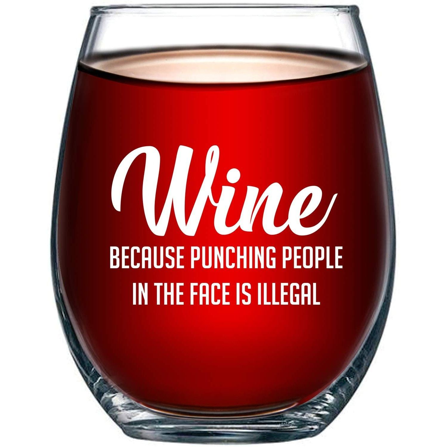 Funny Wine Glass Funny Wine Glass Wine Humor Gifts For Boss