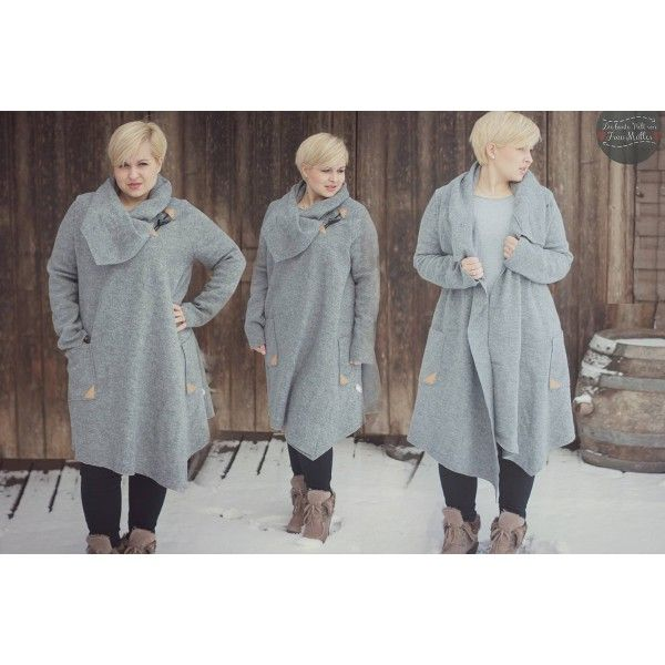 Kaufen: Schnittmuster Mantel | Mantel bordeaux