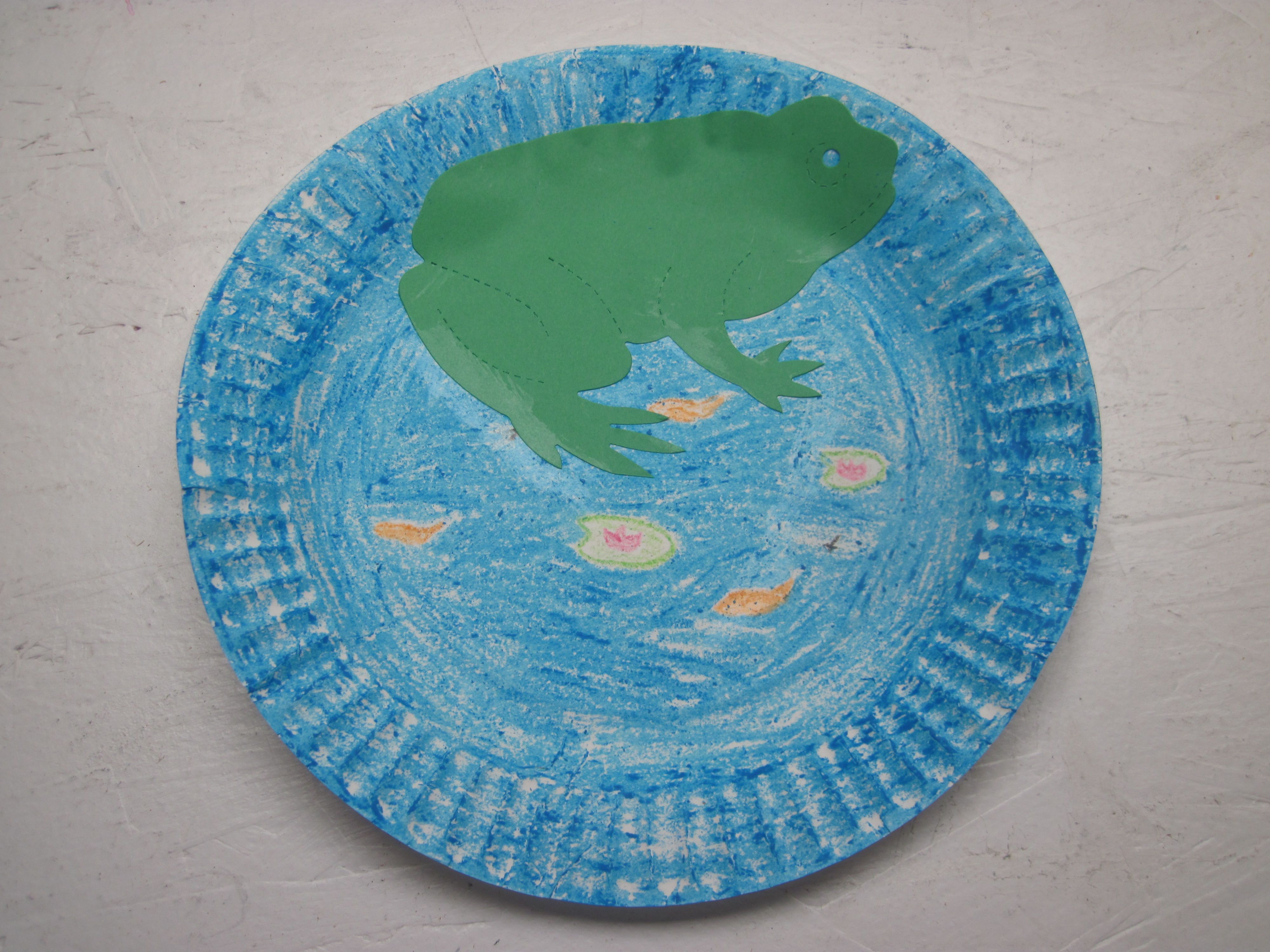 SCIENCE Frog in a Pond    SUPPLIES Paper plates Crayons Frog template Glue sticks DIRECTIONS 1. Get one paper plate. 2. Color the pond and add who we ... & SCIENCE: Frog in a Pond    SUPPLIES: Paper plates Crayons Frog ...