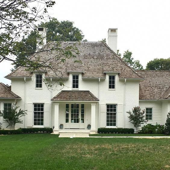 Best French Cottage Gardens Frenchstyle Painted White Brick 400 x 300