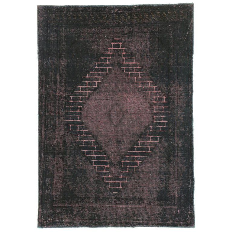 Distressed Vintage Turkish Area Rug With Modern Industrial Luxe