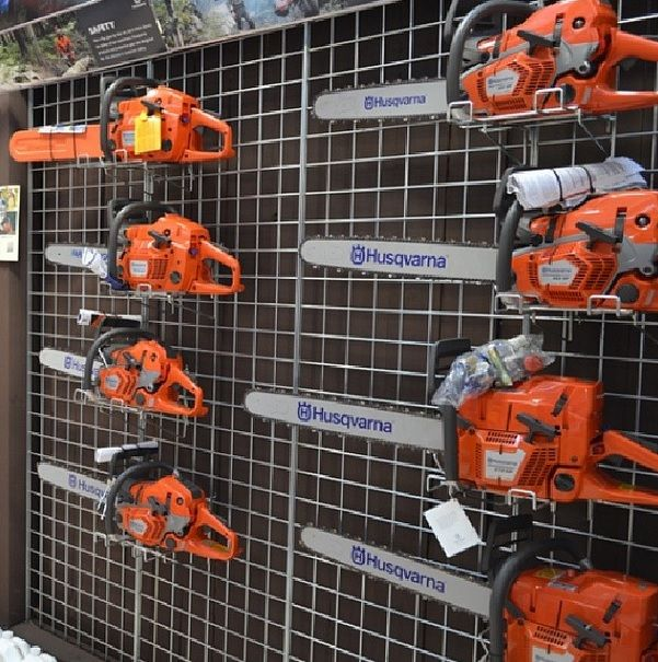 The Husqvarna Chainsaw Line Up On Display Spring