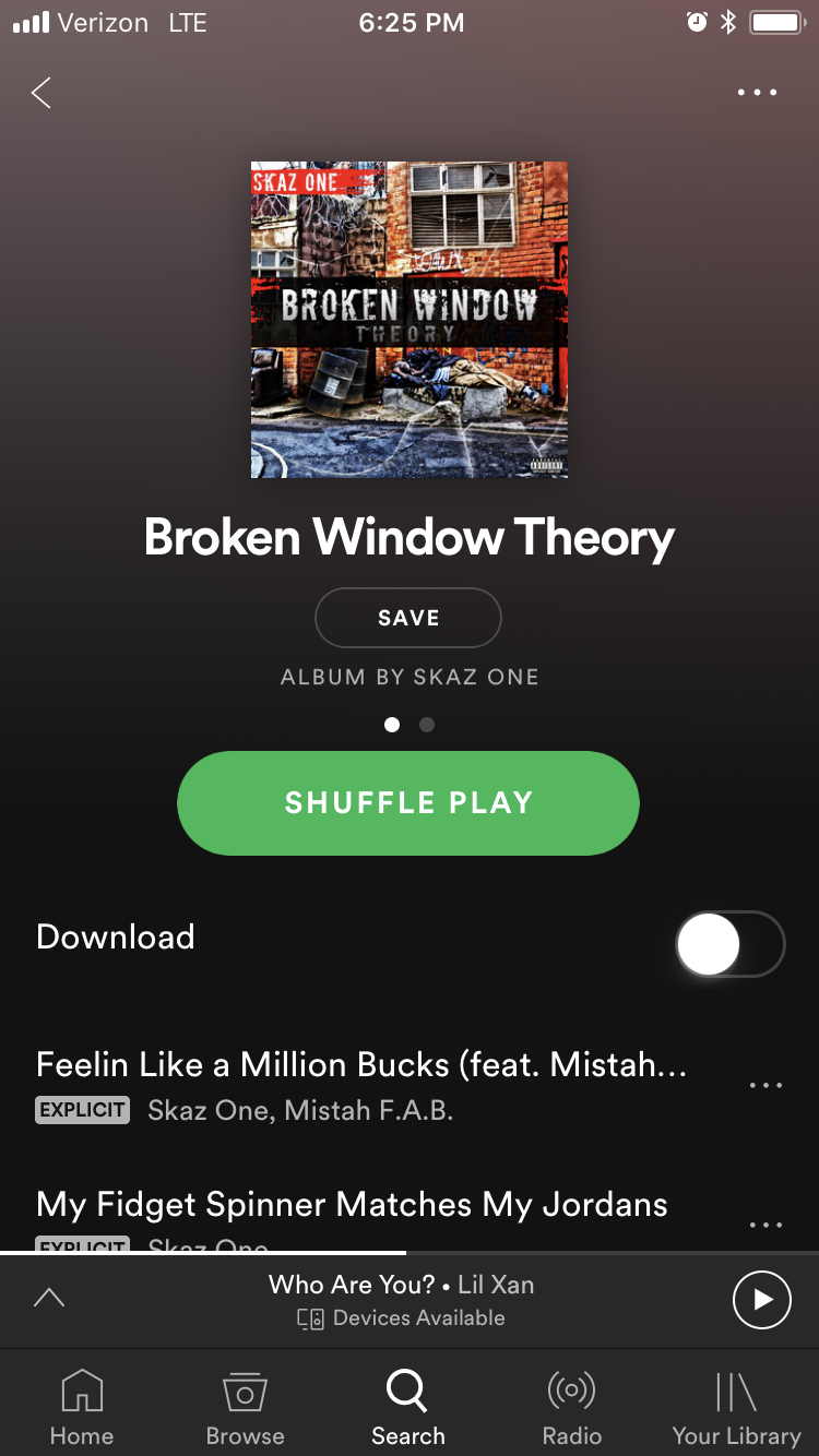New Album on Spotify now! | Skaz One Music | Broken window