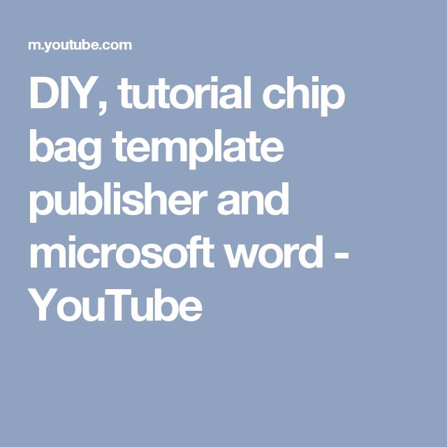 Chip bag template / Free enjoy ! | GIFTS | Pinterest | Template, Bag ...