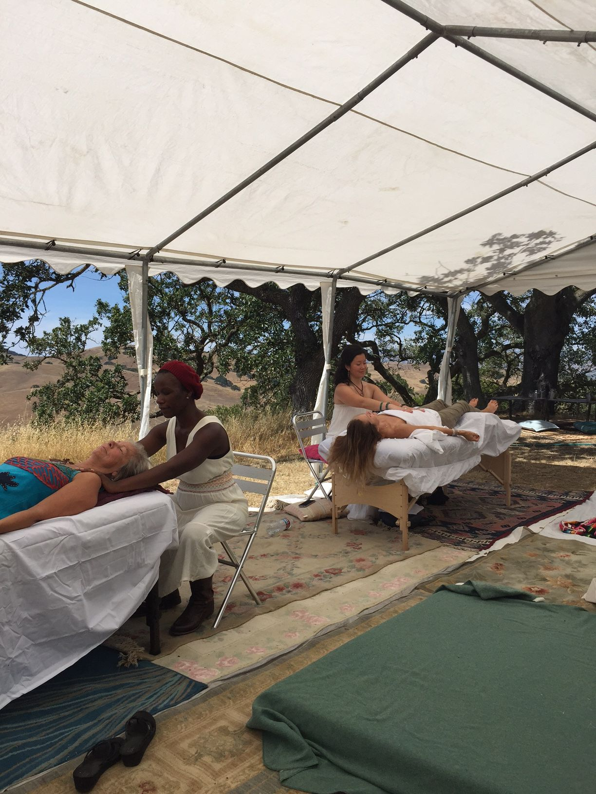 Reiki healing by the Reiki Coalition at the 2015 Women's Visionary Congress in Petaluma, CA.