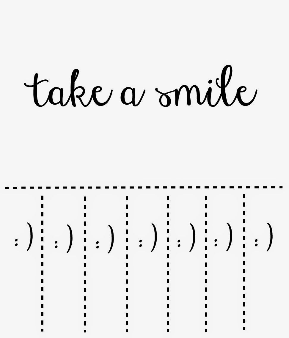 image about Take What You Need Printable titled Get a smile printable. Brighten someones working day Social