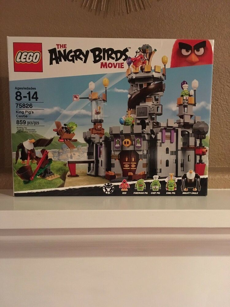 Lego Nib The Angry Birds Movie 75826 King Pigs Castle Age 8 859