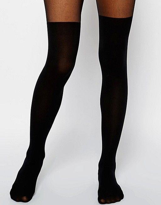 d0fa0484272f2 DESIGN mock over the knee tights with bum and tum support | Fashion ...