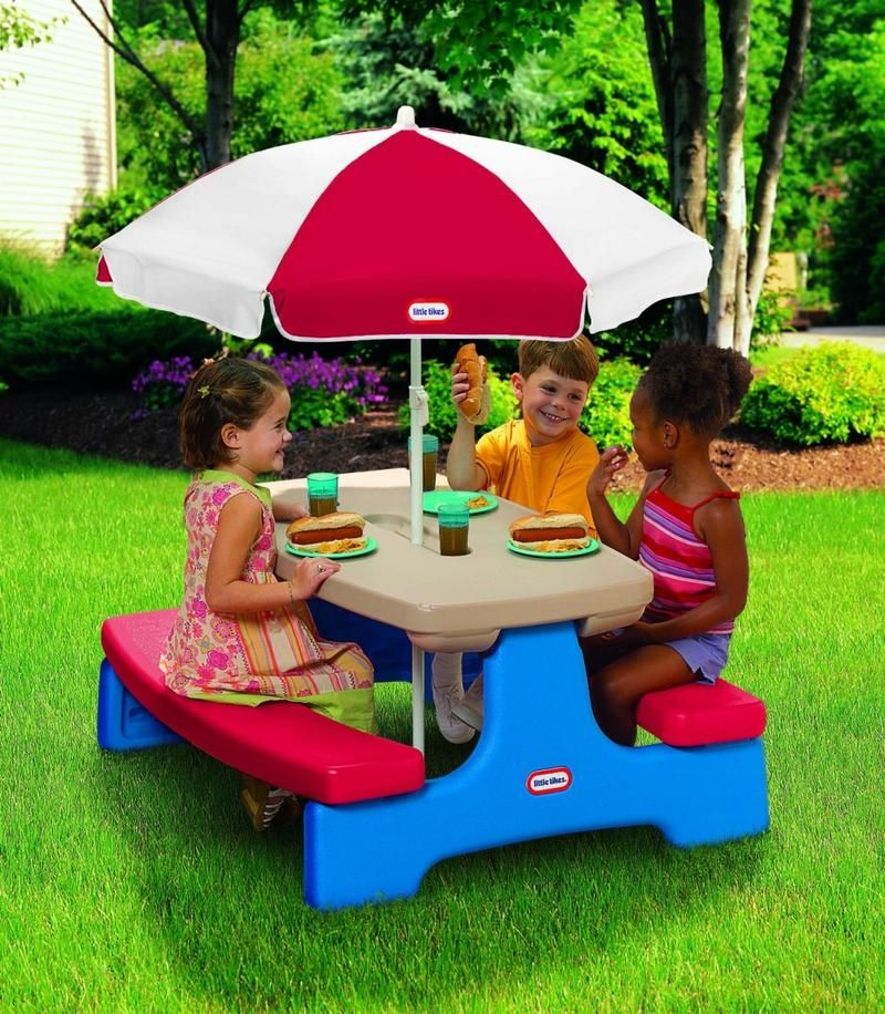 Kids Picnic Table With Umbrella Photos Ideas Kids Picnic