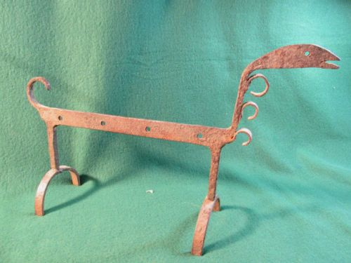 """18th century Hand Forged Fireplace Spit Holder 16 1/2 X 10 1/2"""""""
