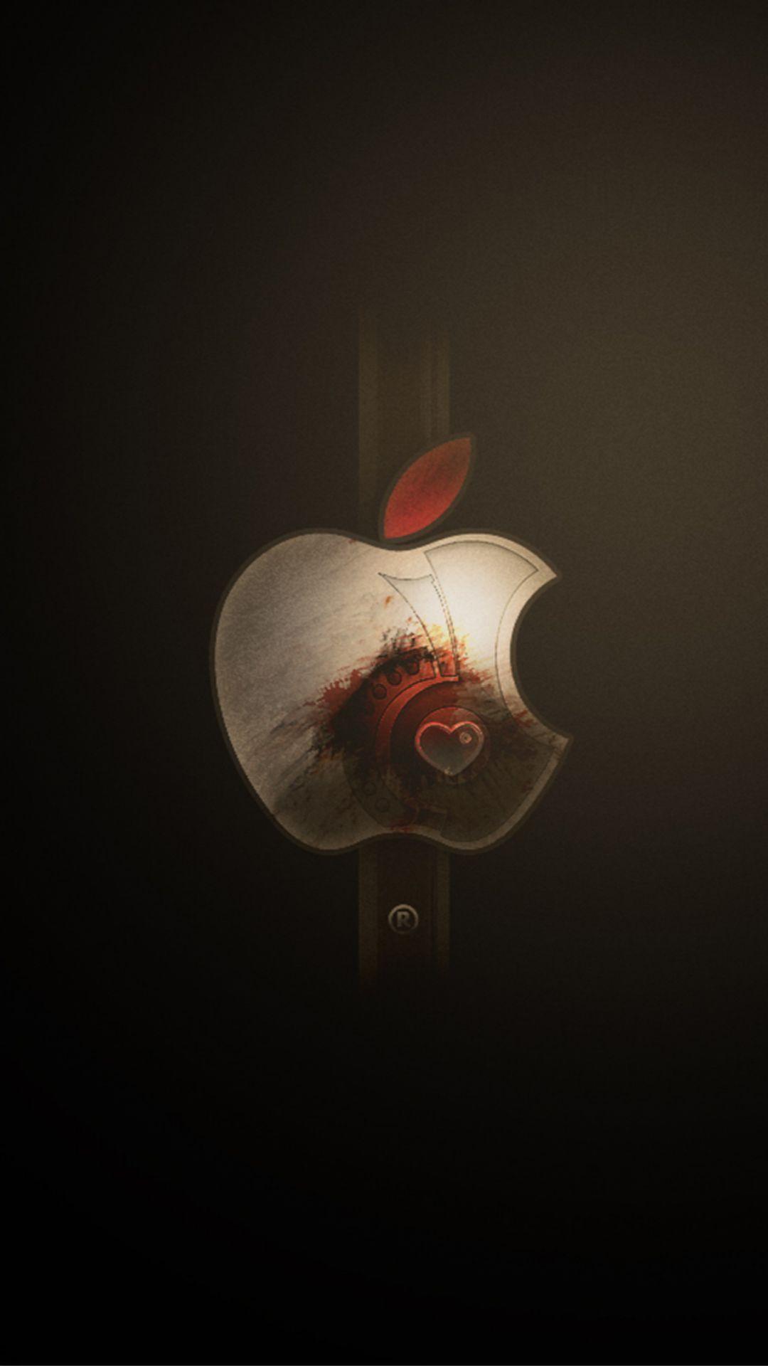 Wallpaper iphone apple logo - Apple Logo Art Landscape Iphone 6 Wallpaper
