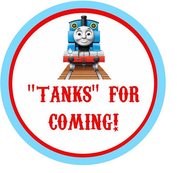Thomas The Train Thank You Tag By Oupande On Etsy Ezra