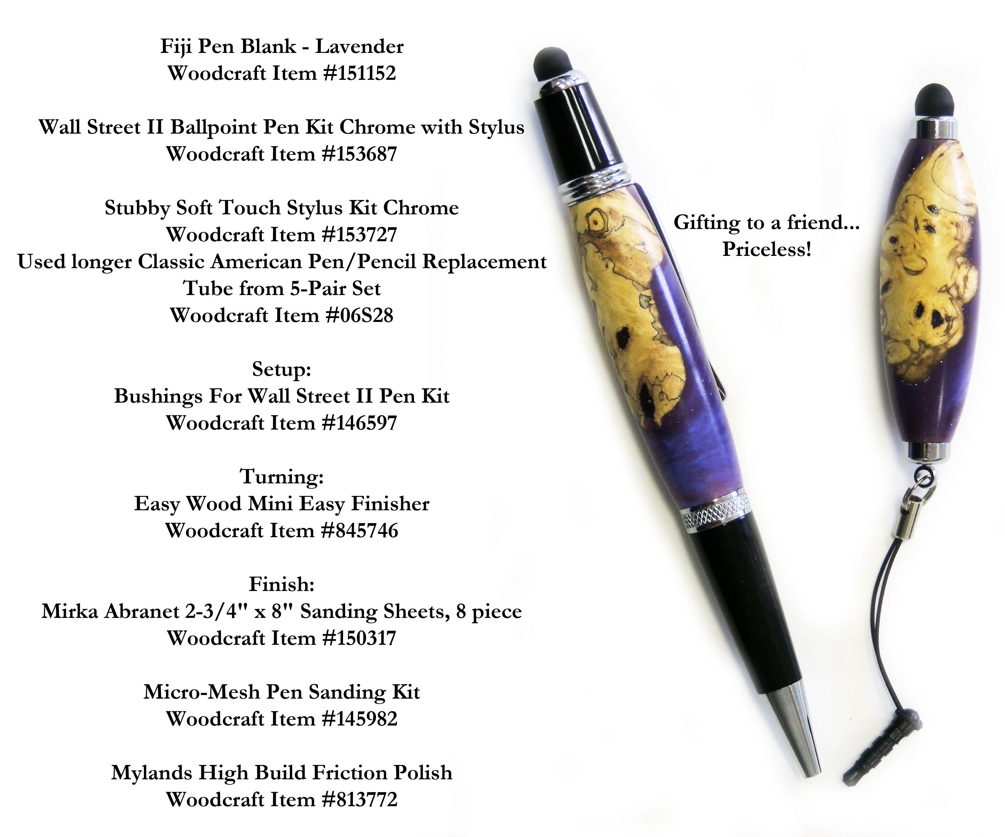 Fiji Pen & Stylus Kits for turning.