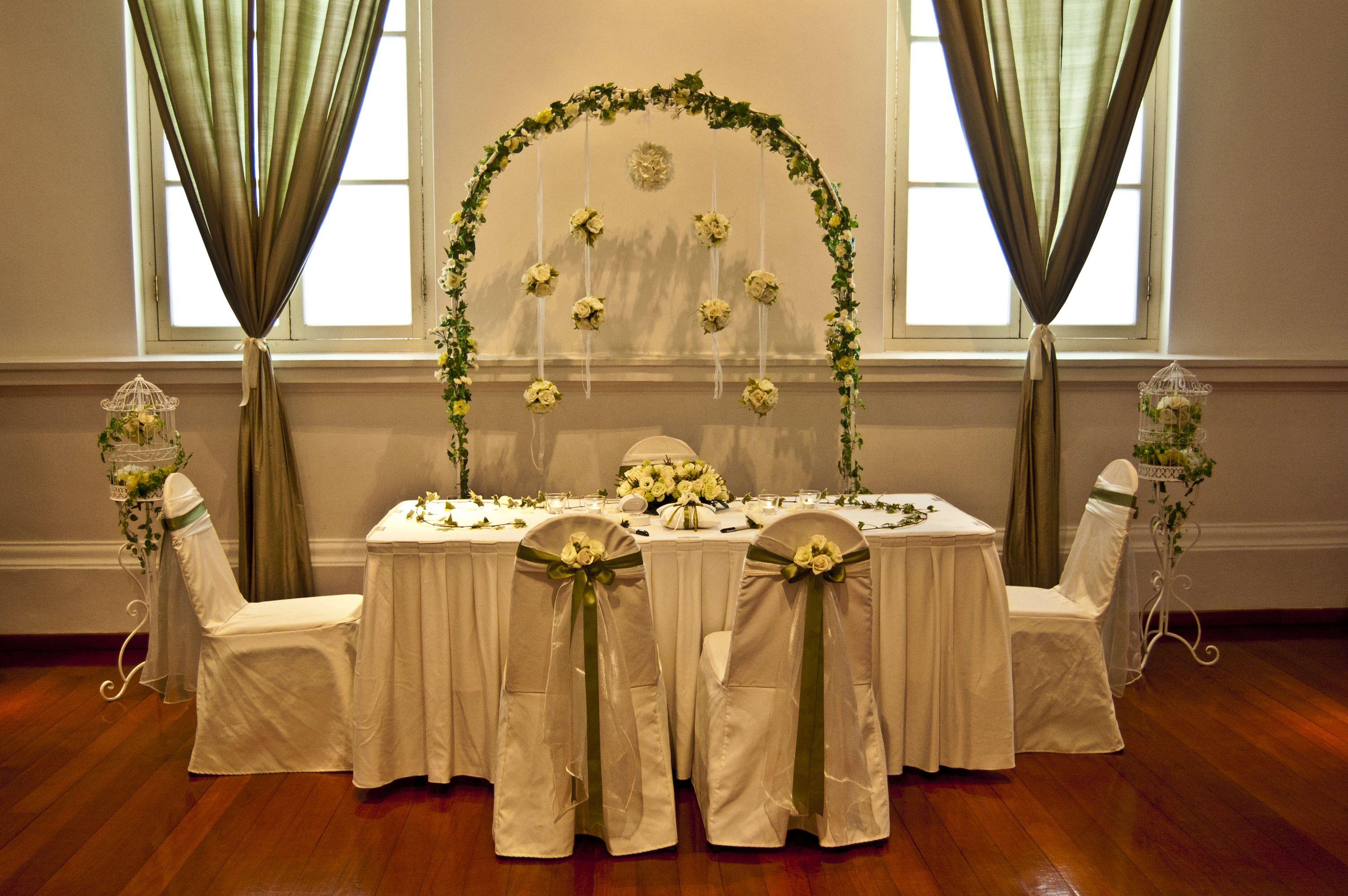 Olive Green Wedding Decor