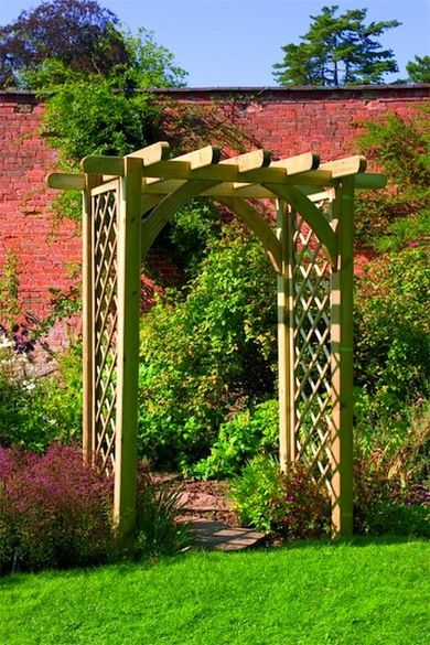 Try a Trellis ~ You see trellises in garden centers all the time, and you've probably never even thought about picking one up, but these architectural details can add a quick and easy accent in the yard. Matt advises placing one toward the back of the garden as a focal point, perhaps using it to mark the entrance to a sitting area or vegetable bed. Choose a flowering vine to plant on either side.