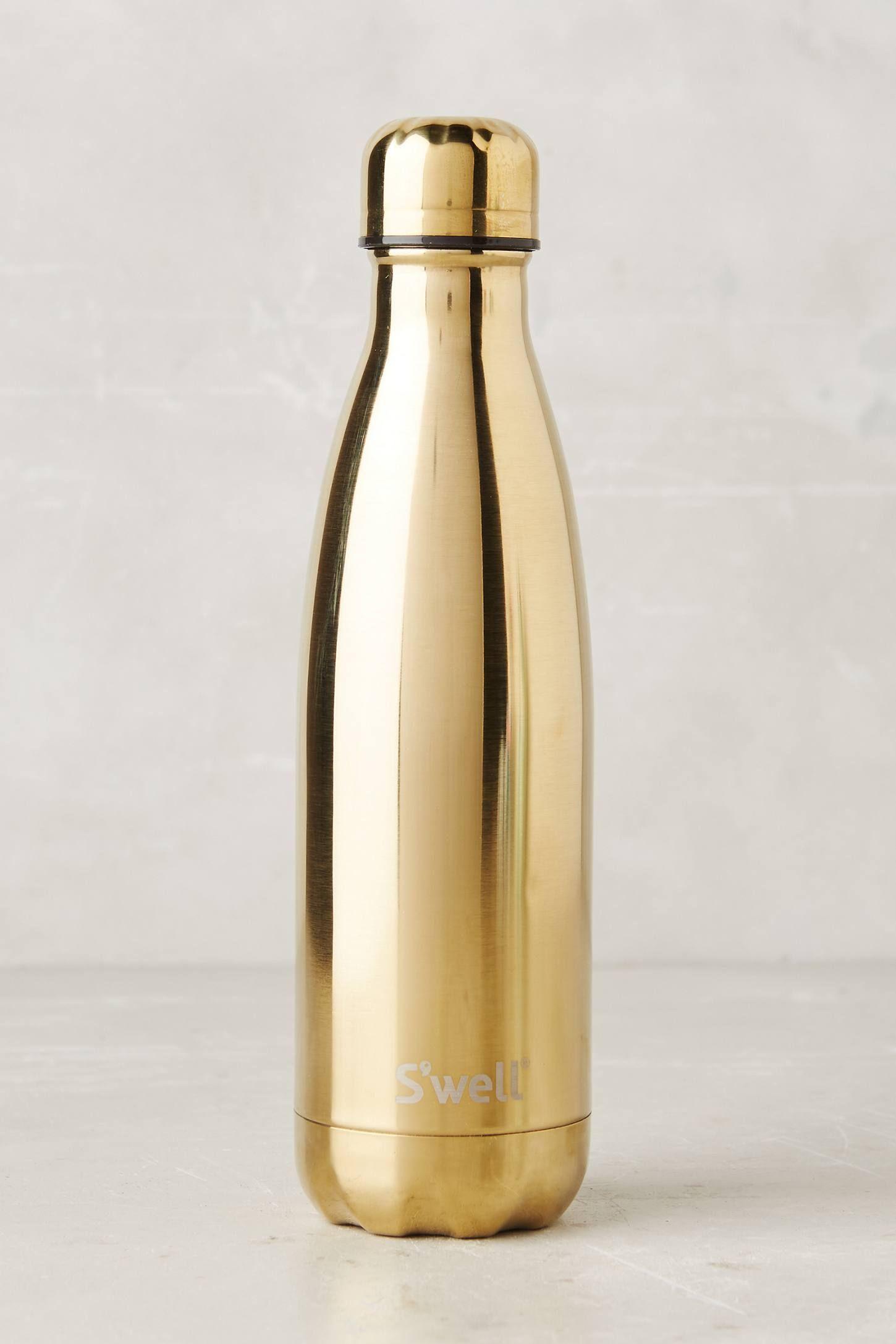 Gold Reusable Water Bottle