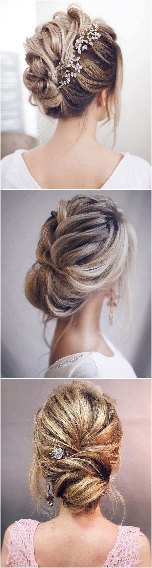 so pretty updo wedding hairstyles from tonyapushkareva dresses