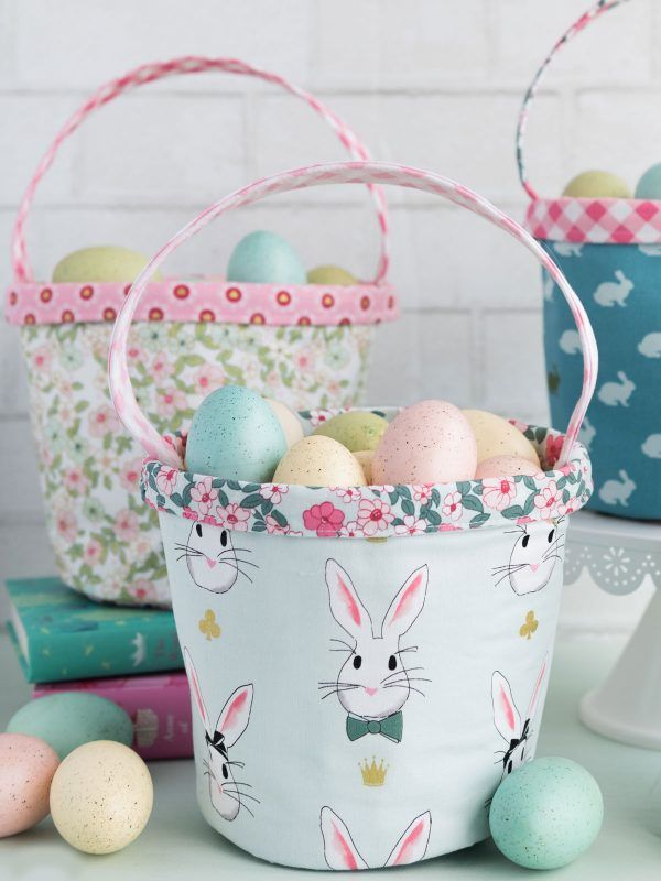Easter basket sewing pattern by melissa mortenson of polkadotchair easter basket sewing pattern by melissa mortenson of polkadotchair using wonderland two fabrics gifts to make pinterest easter baskets negle Image collections