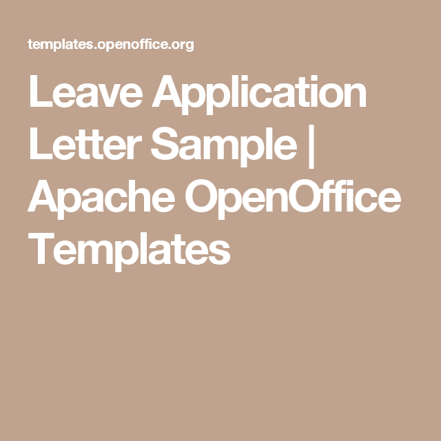 Leave Application Letter Sample  Apache Openoffice Templates
