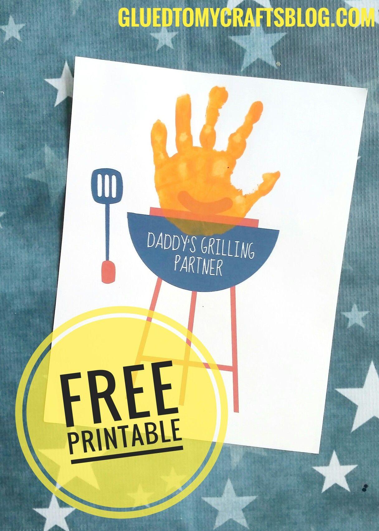 Handprint Daddy S Grilling Partner Keepsake W Free