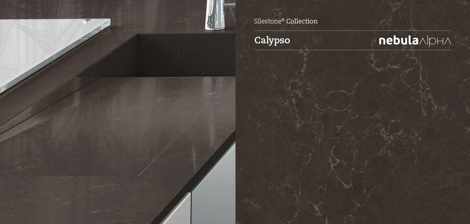 "Silestone CALYPSO ""Nebula Alpha Series: for the kitchen"