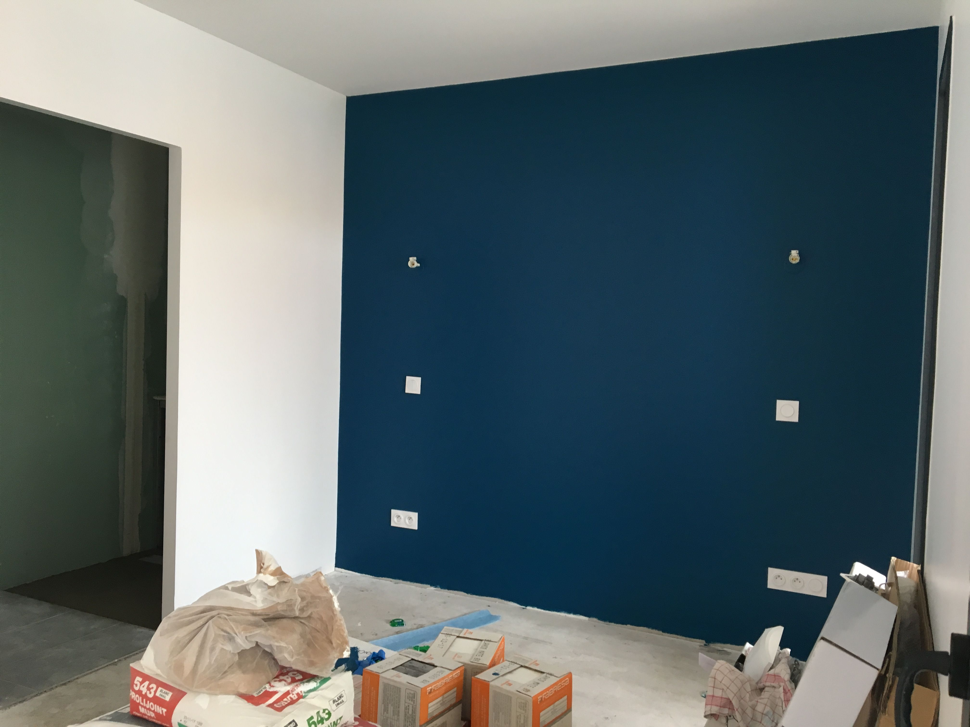 Deco Salon Mur Bleu chambre parentale bleu nipissing | chambre parentale bleu
