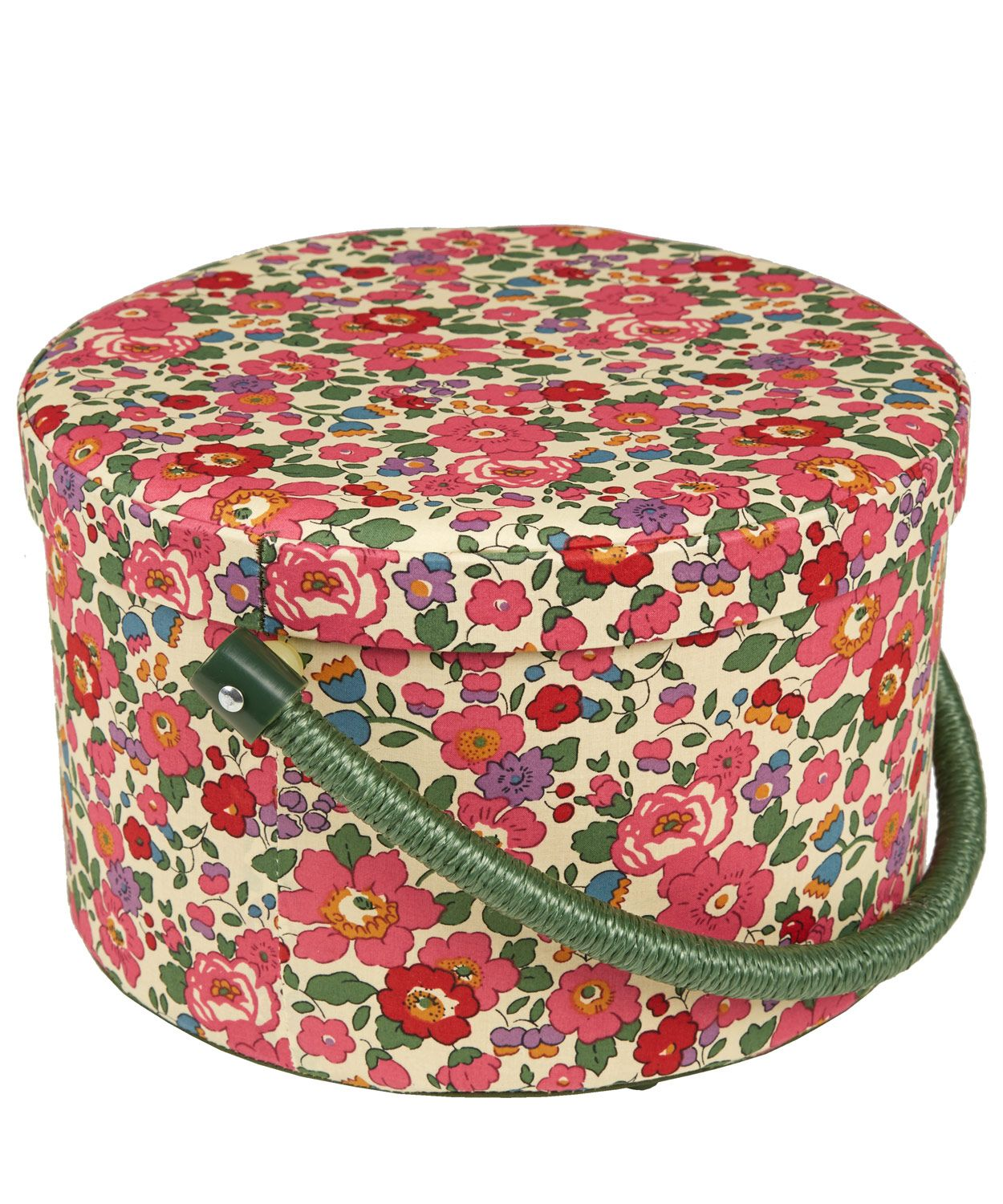 Decorative Boxes Uk Liberty London Betsy Print Round Sewing Box  Haberdashery