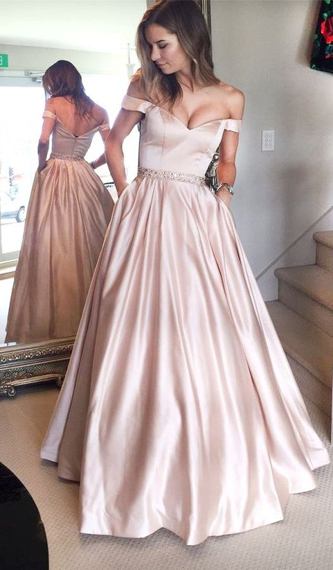 d81c32a9ea Off the Shoulder Prom Dresses