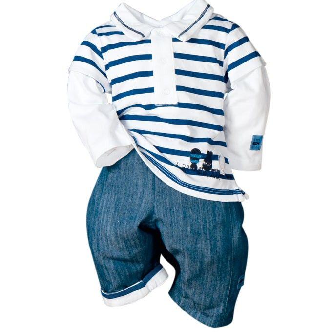 Ensemble b b gar on bleu terre de marins vetement bebe - Portant vetement bebe ...