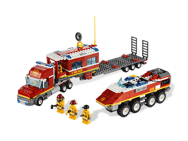 Lego 4430 Fire Transporter I Want This To Go With The Fire Brigade Modular Building Scenery Lego Fire Lego City Lego City Fire