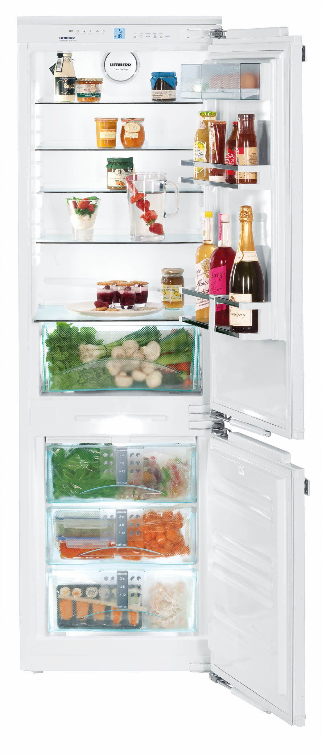 Liebherr Hc1021 24 Built In Panel Ready Bottom Freezer Refrigerator With 4 Glass Shelves Adjustable Built In Fridge Freezer Refrigerator Panels Glass Shelves