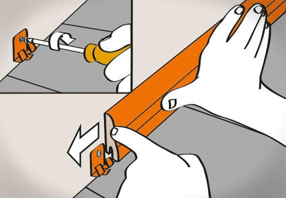 Sockelleisten Anbringen Anleitung In 6 Schritten Obi Fussleisten Fussleisten Anbringen Sockelleisten