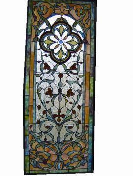 glas lood panelen - Mooie glas en lood panelen als raamdecoratie