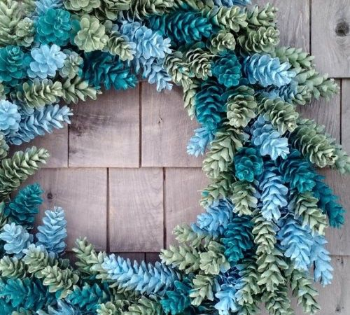 how to make a wreath for spring blue tones
