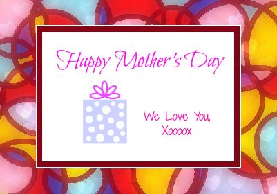 Mother's Day Label