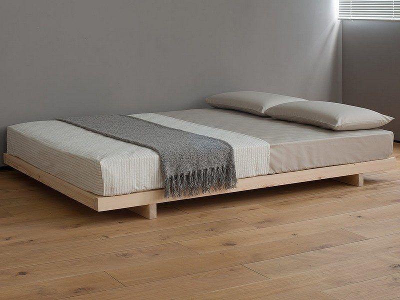 Bett Ohne Kopfteil   Liege Aus Massivholz