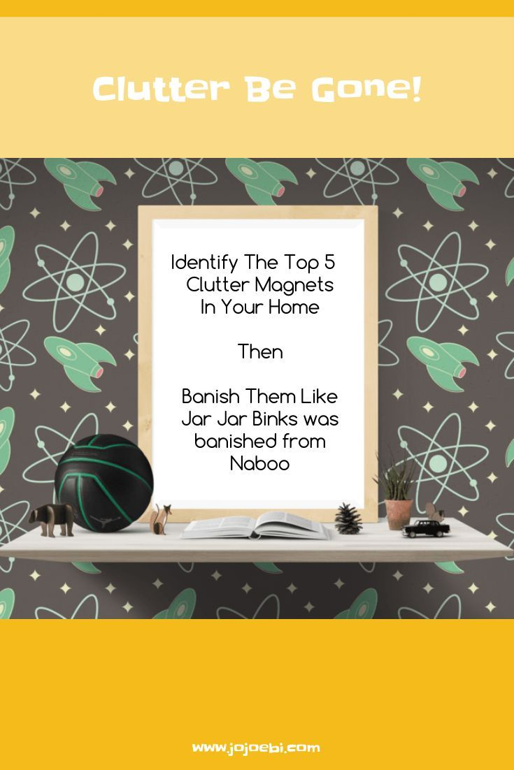 Identify where your clutter magnets are then follow the action plan to banish them! Kaizen Hack !
