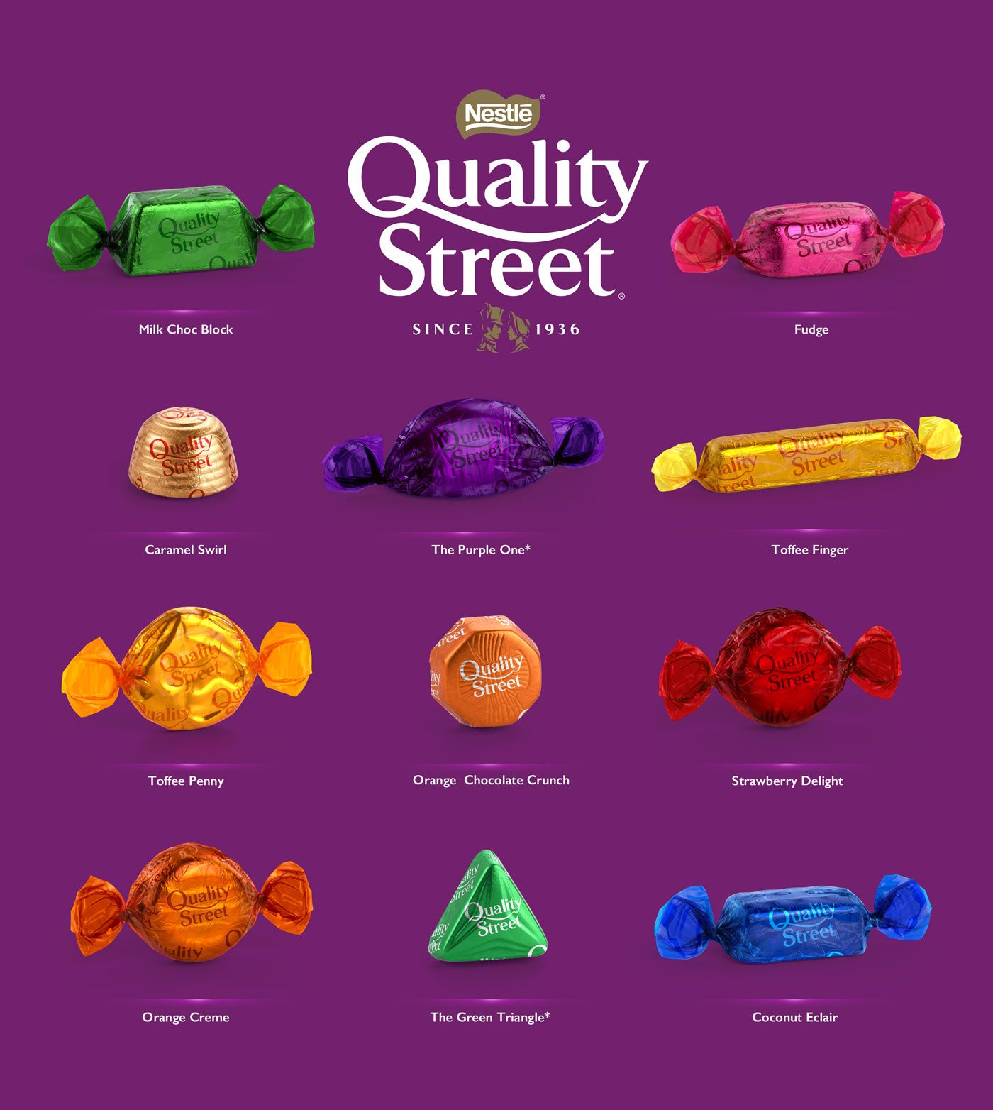 3D Quality Street Chocolates & Toffees - Packaging on Behance | Quality streets chocolates, Quality street, Chocolate toffee