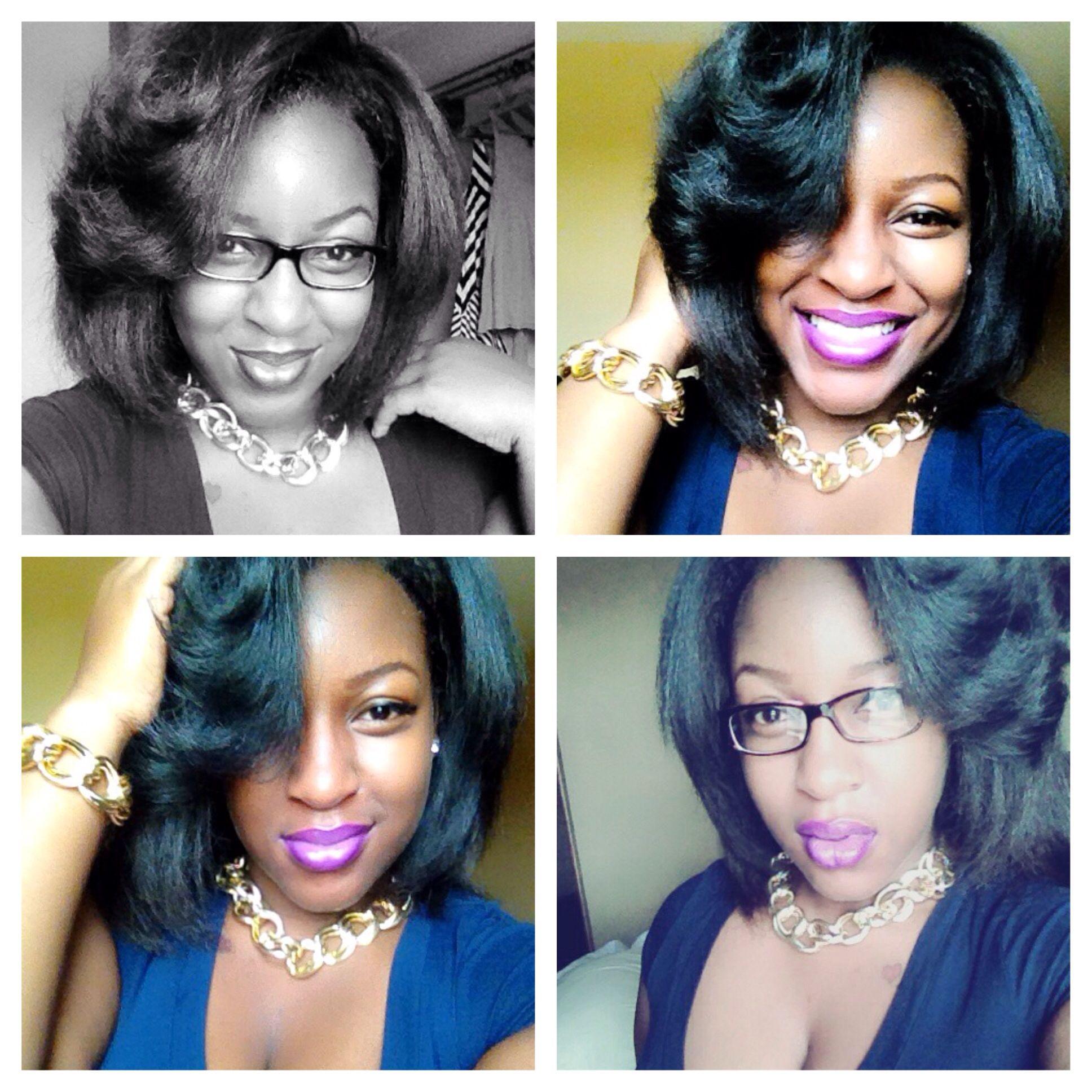 Natural Hair & A Purple Lip