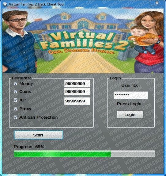 free coins for virtual families 2