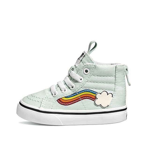 a5e1f48242fa Vans SK8 Hi Zip Toddler Rainbow Sidestripe Wan Blue
