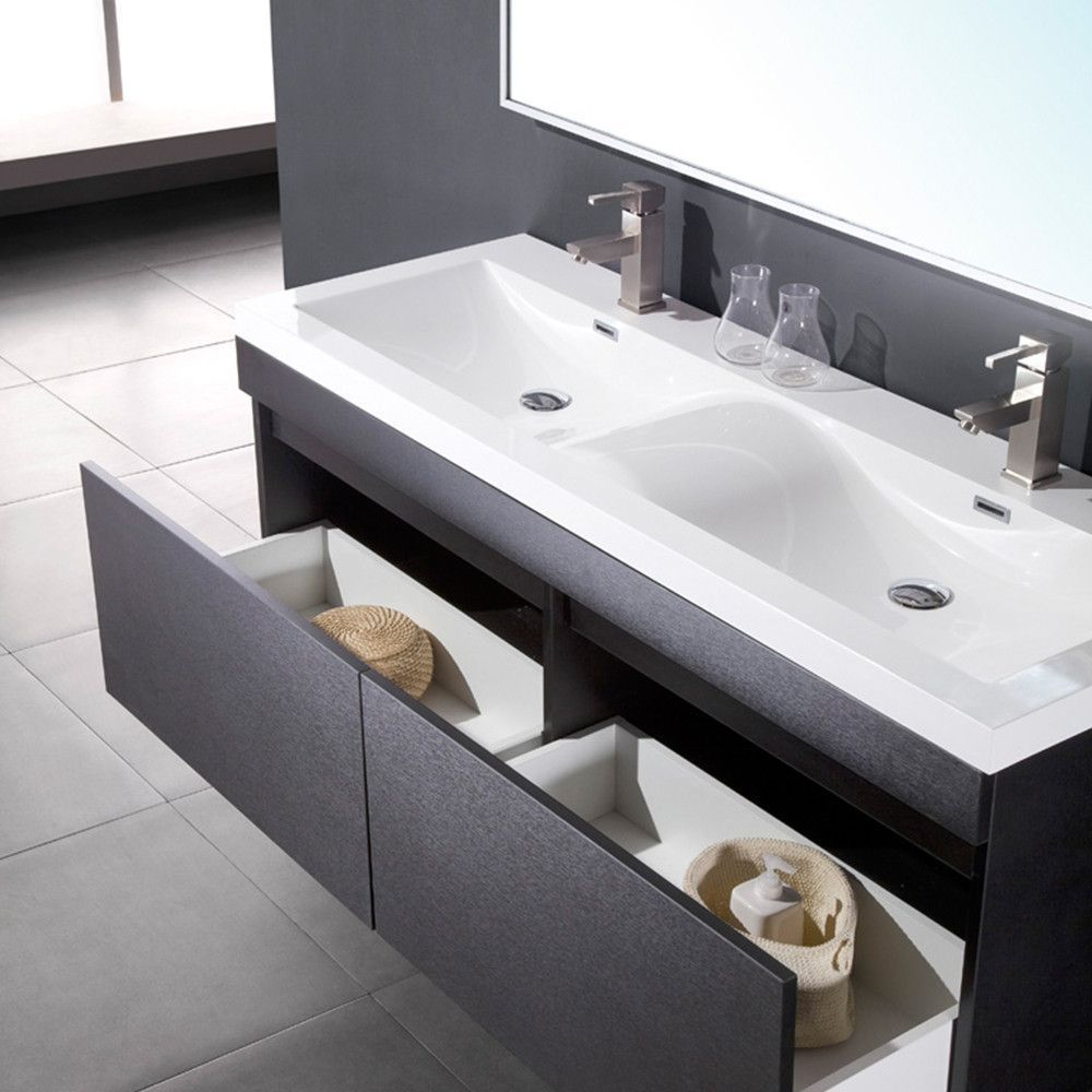 Striking In Its Simplicity This Double Sink Vanity Offers Modern