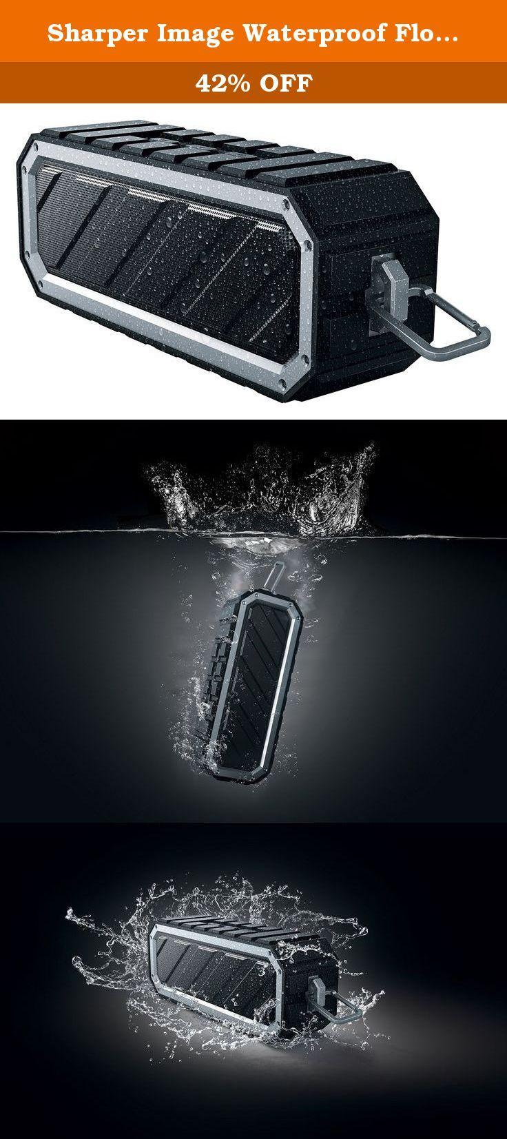 Sharper Image Waterproof Floating Bluetooth Speaker Rug Portable