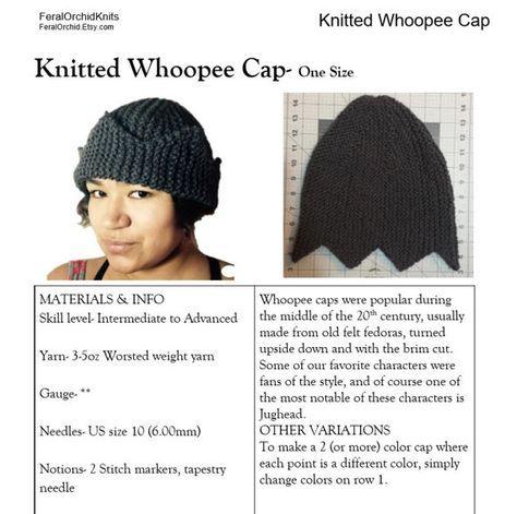 3c5af84629b Knitting PATTERN- Jughead Hat