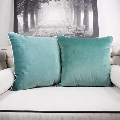 Ebern Designs Catanzaro Velvet Throw Pillow Color  Teal  7b6978d128