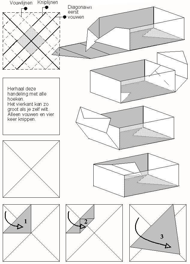 Bekend Doosje vouwen | Saltine toffee | Pinterest - Doosje, Origami en  #LR85