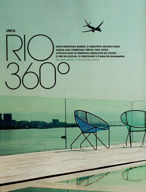 Casa Vogue Brasil - Urca triplex by Arthur Casas
